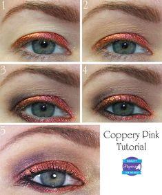 Phyrra: Inglot Coppery Pink 81 Makeup Tutorial