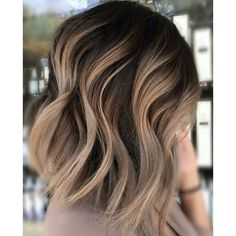 Neutral Carmel Blonde Hair Color Ideas for Short Hairstyles 2017 ❤ liked on Polyvore featuring beauty products, haircare, hair, beauty and cabelo