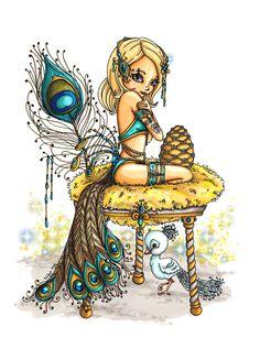 Peacock Princess by JadeDragonne