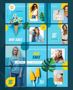 Sale Instagram Puzzle Template - 12 Square Layout Templates Instagram Design, Flux Instagram, Instagram Feed Layout, Instagram Grid, Instagram Post Template, Instagram Posts, Insta Layout, Instagram Collage, Social Media Branding