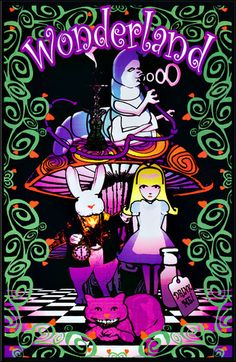 36 x blacklight poster. The Cheshire Cat Alice in Wonderland black light poster ads a little wit to any space. Lewis Carroll, Wonderland Party, Alice In Wonderland, Pin Up, Chesire Cat, Black Light Posters, Hippie Art, Hippie Style, Were All Mad Here