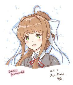 Monika portrait. : DDLC