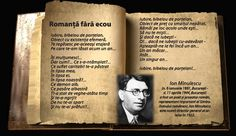 Lumea poeziilor: Ion Minulescu - Romanţă fără ecou Beautiful Poetry, Romantic, Quotes, Literatura, Quotations, Romance Movies, Romantic Things, Quote, Shut Up Quotes