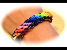 Die deutsche Anleitung für das Rainbow Loom Rotini Armband in Regenbogenfarben. Ihr könnt das Armband natürlich auch mit anderen Farben machen. Danke für's A...