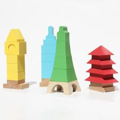 Spanish toy brand Mitoi has launched two collections of colourful building blocks that enable children to recreate iconic buildings from around the world (+ slideshow).