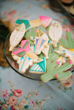 Southwestern-Boho Bridal Shower | Styling: A Pretty Perspective | Cookies: Miss J's Sugar Cookies | Photo: Courtney Leigh Photography