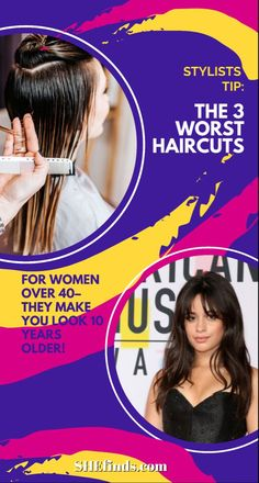 Certain cuts and styles can even help disguise signs of aging like forehead lines and crow's feet. On the other hand, other hairstyles can do the exact opposite – emphasizing all the areas you'd rather hide. With that in mind, keep reading for the 3 worst haircuts for women over 40! Learn more about these hairstyle mistakes on SheFinds!