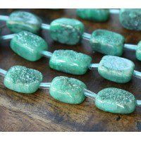 Agate Beads with Druzy, Green, Large Nugget These beautiful agate beads have been dyed a sea green color. Sea Green Color, Green Colors, Gemstones For Sale, Agate Beads, Bead Crafts, Jewelry Supplies, Beading, Diy, Beautiful