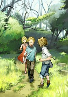 Elric brothers and Winry