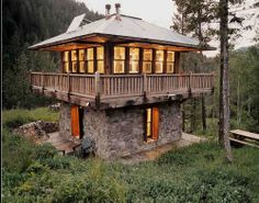 I love this! Fire look out for a cabin...so cool. Tree house idea