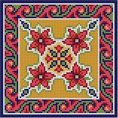 Biscornu Cross Stitch, Xmas Cross Stitch, Beaded Cross Stitch, Cross Stitch Borders, Counted Cross Stitch Patterns, Cross Stitch Charts, Cross Stitch Designs, Cross Stitching, Cross Stitch Embroidery