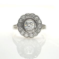Leigh Jay Nacht Inc. - Belle Epoque Flower Cluster Diamond ring - vr508-04
