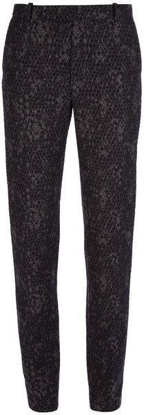 KENZO Gray Snake Print Trouser - Lyst
