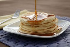 Easy Vegan Pancakes — Believe it or not, making pancakes the vegan way is nearly as simple as using Bisquick.  In fact, you can use Bisquick! Did you know that the original Bisquick mix is vegan, as is Aunt Jemima's Original mix, and probably many others, too. The difference is that these mixes usually require eggs; therefore the end