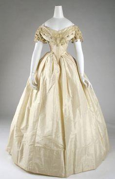 Dress ca. 1860  From the Metropolitan Museum of Art