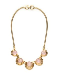 House of Lavande Mazer Bros. Gold Geometric Station Necklace
