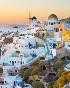 Katikies Hotel, Mansion Sophia, Astro Palace Hotel & Suites  ( Santorini, Greece )  While on Santorini, be sure to catch the dramatic sunsets, when the island is literally lit up. #Jetsetter #JSVolcano #JSSunrise