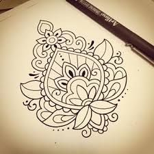 Image result for mehndi with flowers pattern on upper arm