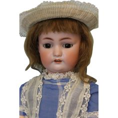 Antique Rare 20 inch  German Bisque Simon  Halbig 530 Character Doll Sleep Eyes 1900 Very rare doll. This is an antique character bisque child by
