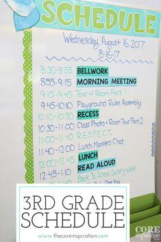 A detailed look at the schedule I use in my third grade classroom. Perfect for new teachers looking for an idea for how to format and organize a day in the elementary classroom.