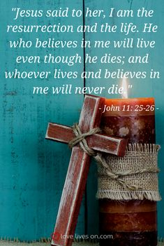 A comforting Good Friday bible verse from the book of John about the resurrection of Jesus.