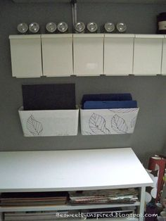 I started out with these clear acrylic wall mount file organizers. I got them from Target in the office supply section and they were under $...