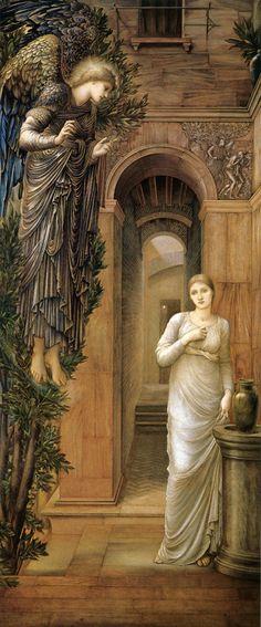 Edward Burne-Jones ( (1833-1898)The Annunciation