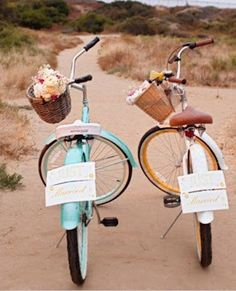 Just Married - I'd love to go with my honey bike riding in Paris on our honeymoon.