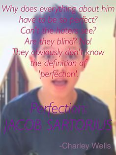 Jacob Sartoruis is mine meaning of perfection