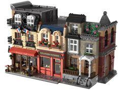 Casa Lego, Big Lego, Lego Display, Lego Modular, Lego Design, Lego Architecture, Lego Projects, Lego Moc, Cool Backgrounds