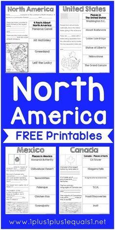 FREE North America Printables
