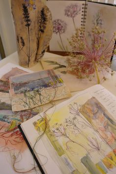 Workshop at Go Create, New England, Australia 11-12 April 2018 Sketchbooks shots Cas Holmes taken by Sheilagh Dyson
