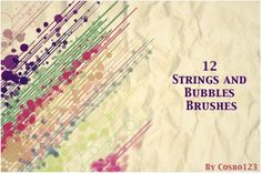 12 Strings And Bubbles Brushes - Free Photoshop Brushes Adobe Photoshop, Photoshop World, Photoshop Software, Photoshop Design, Photoshop Brushes, Photoshop Elements, Lightroom, Photoshop Ideas, Brush Sets