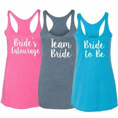 Personalized Heathered Tri-Blend Bridal Party Tank Top - Bride T-Shirts - Personalized Bride to Be Shirts - Bride Clothing - Bridal Rhinestone Shirts