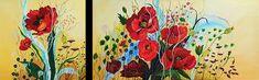 Mohnblumen Acryl / sold Painting, Poppies, Artworks, Painting Art, Paintings, Drawings