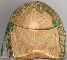 Lady's Green Silk Calash, 1800-1820, Augusta Auctions, November 12, 2014, Lot 218