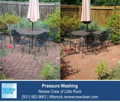 http://littlerock.renewcrewclean.com/pressure-cleaning – Rejuvenate your backyard patio with a good power washing and cleaning from Renew Crew of Little Rock. Whether your patio is made of concrete, stone, brick or tile, we can clean them all. We serve Little Rock plus Conway, Benton and Pine Bluff AR. Free estimates.