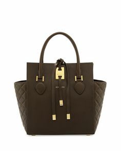Miranda Quilted Tote, Olive by MICHAEL KORS at Neiman Marcus.