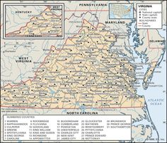 Website with links to historical maps.  Very useful in genealogical research as state boundaries changed so much in Virginia and other states.