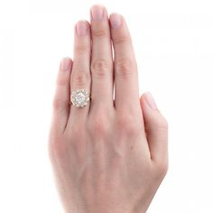 Mirabelle is a vintage-inspired white gold engagement ring from the Claire Pettibone Fine Jewelry Collection featuring a morganite and a diamond halo. Platinum Engagement Rings, Deco Engagement Ring, Vintage Engagement Rings, Platinum Ring, Art Deco Diamond Rings, Diamond Art, Thing 1, European Cut Diamonds, Queen