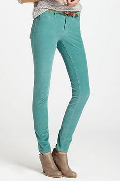 Great colored pants for a transition into fall