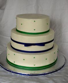 Ribboned Wedding Cake