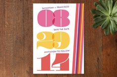 1950s Mangold Mojo Save the Date Cards by Coco Pap... | Minted