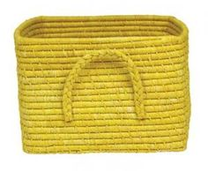 Yellow Raffia Basket