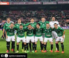 #Repost @aytovvaserena  Once titular del @cfvillanovense frente al @fcbarcelona en el Camp Nou