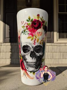 Shop handcrafted apparel, keychains, and tumblers. Kids Tumbler, Tumbler Cups, Vinyl Tumblers, Custom Tumblers, Glitter Cups, Glitter Tumblers, How To Dye Fabric, Dyeing Fabric, Floral Skull Tattoos