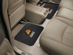 """NBA - Phoenix Suns Backseat Utility Mats 2 Pack 14""""x17"""""""