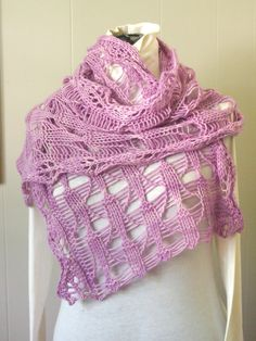 Knitting pattern for Coneflower Scarf