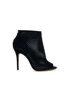 new concept 4b799 10531 Karen Millen Laser Cut Peep Toe Shoe Boots at asos.com