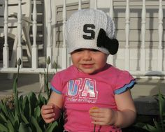 Girls Handmade Michigan State Crochet Newsboy Hat with Logo Patch and bow / MSU Baby / Photo Prop / Custom Made Infant, Baby on Etsy, $29.99